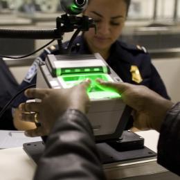 Fingerprint scanner at US airport