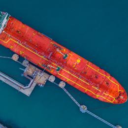 Docked tanker