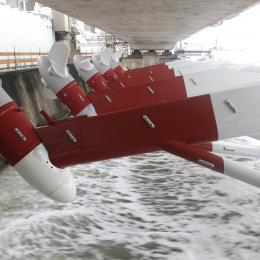 Tidal turbines generate clean energy