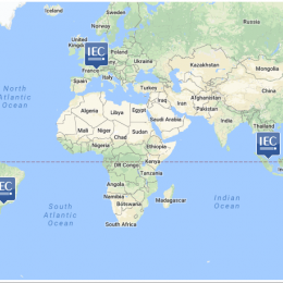 Map of IEC regional offices