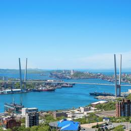 Vladivostok bridge to Russky Island