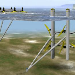 Triton platform tidal energy device (Photo: TidalStream)