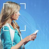 Smart phones use facial recognition technology