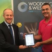 Scott Harding (right) receiving the first IECEx certificate in September 2017 (Photo: Woodcock & Wilson)