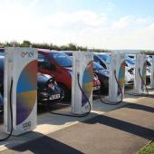 EVs charging their batteries