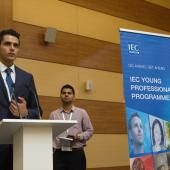 Young Professional presenting at the General Meeting